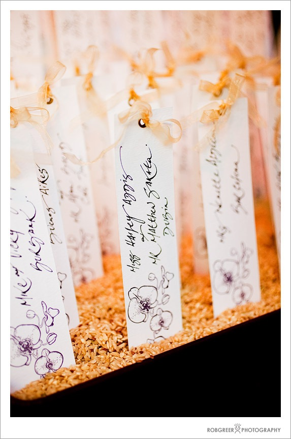 Seating Place Cards at Wedding Ceremony