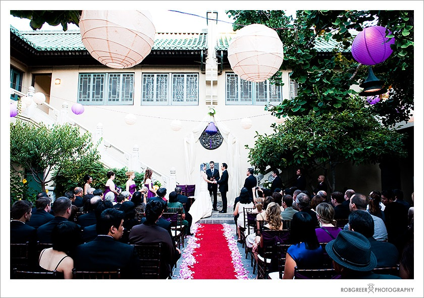 Wedding Ceremony at the Pacific Asia Museum in Pasadena