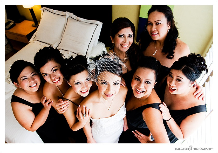 Bridal Party at Pacific Palms Resort