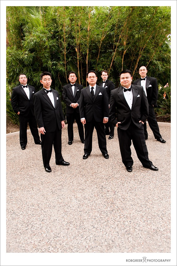 Groomsmen at Pacific Palms Resort in Industry Hills