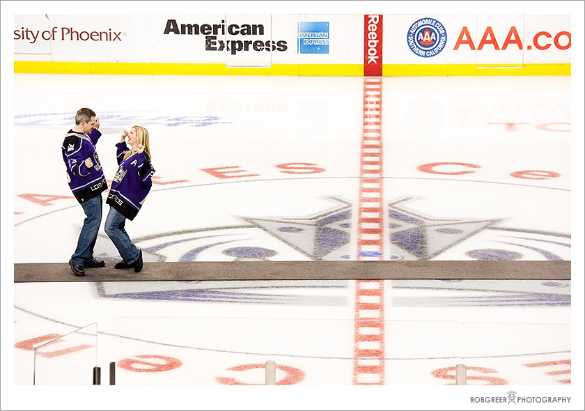 Center Ice Kings Game - Engagement Session