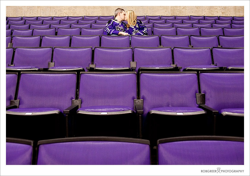 Purple Seats at the Los Angeles Staples Center