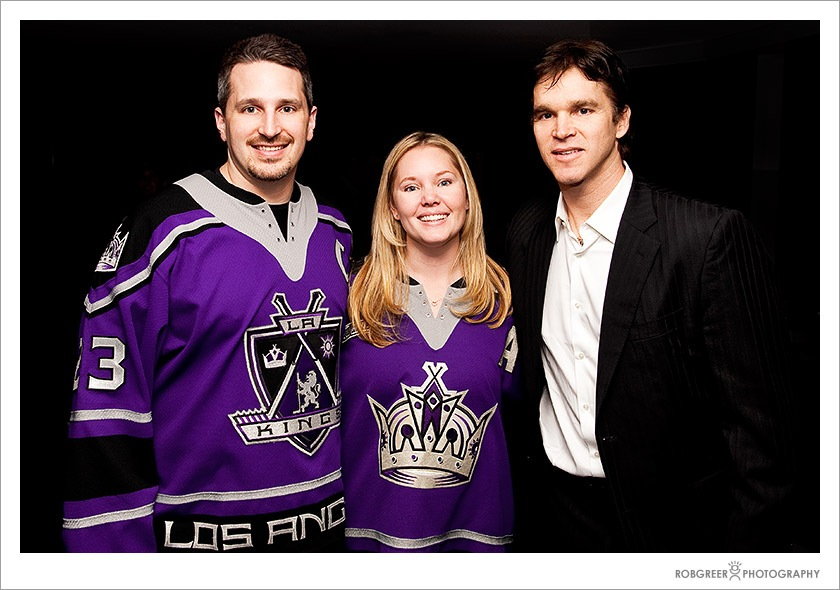 Luc Robitaille with Fans at Staples Center