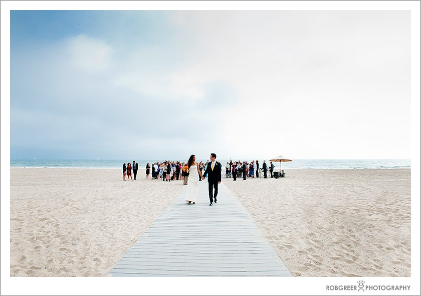 Beach Wedding In Santa Monica California