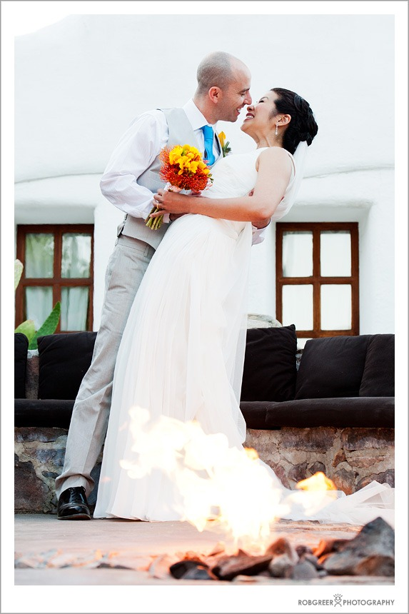 Wedding Photographer working with Fire