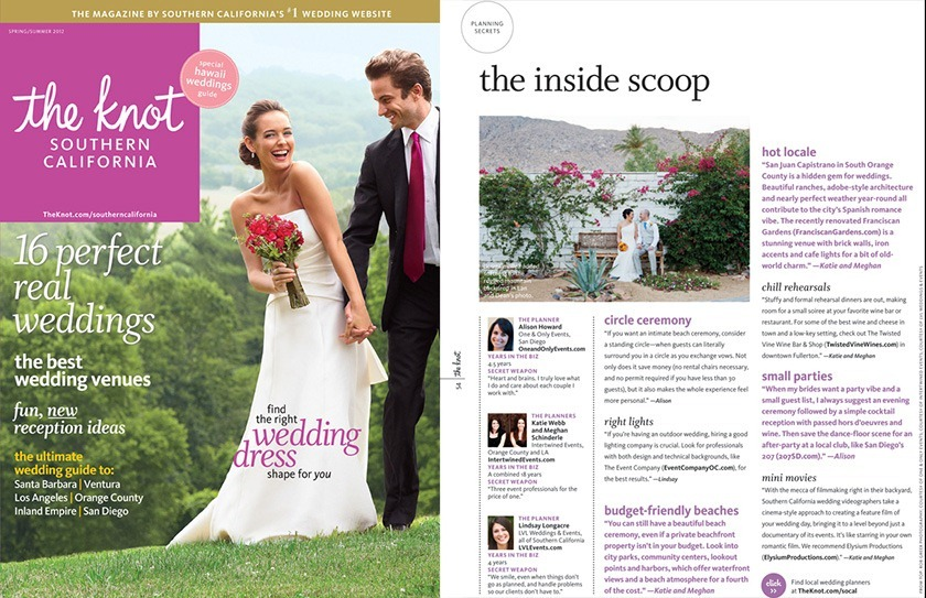 Los Angeles Wedding Photographer Rob Greer Featured in The Knot Southern California Magazine (Spring / Summer 2012)