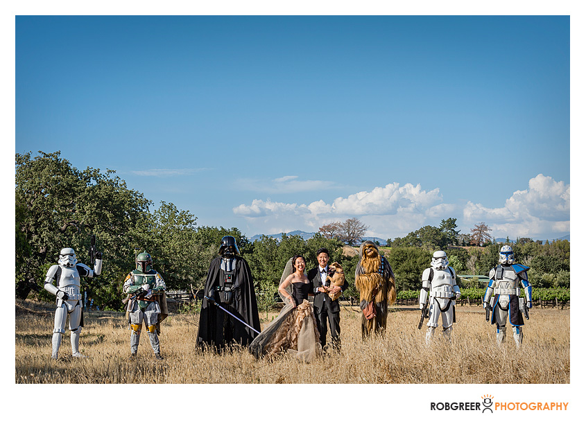 Star Wars Wedding Party with Gay Couple
